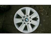 BMW 5 stud steel with trims and wheels and winter tyres