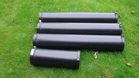 Stove log burner multifuel 125mm-175mm flue pipe brand new convesa 3.5 mtrs brand new
