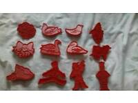 Very rare set of 12 days of Christmas. Cookie biscuit cutters