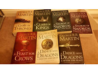 Game of Thrones – 7 book set – New