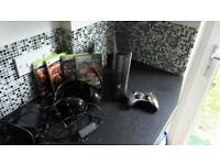 Xbox 360 console 320gb and games
