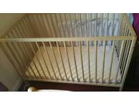 Ikea cot plus mattressm. Possible local delivery