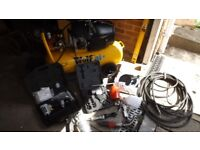3hp wolf compressor with all the accessories needed to do most jobs