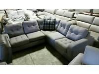 New grey corner sofa bed
