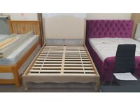Julian Bowen Camille Limed Oak Double Bed (BED ONLY) Can Deliver