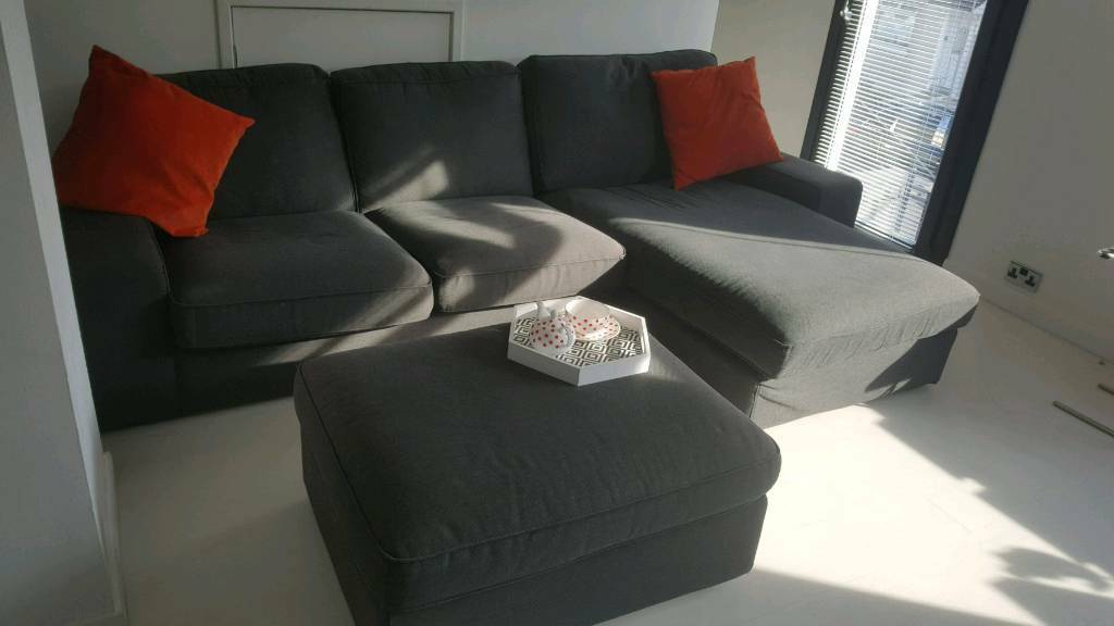 Ikea Kivik Corner Sofa With Stool