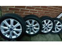2014 fiesta zetec alloys and tyres