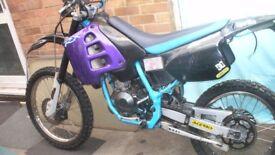 aprilia rx 50 bike damaged for spares 70 cc kit with v5