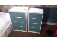 vintage 1960's chest of drawers x 2