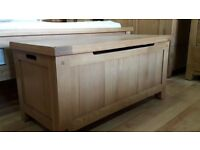 Brand New Beautiful Oak Blanket Box