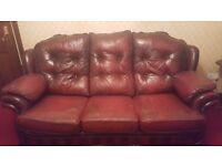 3-1-1 leather sofa- Burgundy