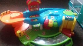 Vtech toot toot garage, train set plus vehicles