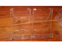 Acrylic A4 Leaflet Brochure Holder Counter Display x 4 - Products Book Leaflet Display in Shop