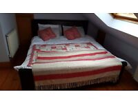 Super King size learher bed