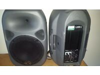 Power Speakers Wharfedale Titan 12'' 250w (500w peak) ACTIVE Speakers (pair) + heavy duty stands