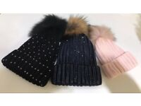 Women's Diamanté hats in various styles and colours.
