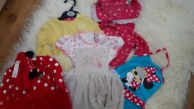 Selection of baby girl clothes, various sizes, immaculate condition