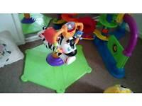 Bouncing zebra toy