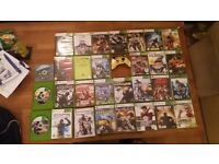 30 xbox 360 games , and gold limitted addition controller