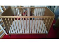 Ikea cot bed set for sale