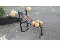 WEIDER BENCH WEIGHTS & BARS
