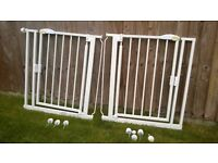 Self closing stair gate Safetots x2