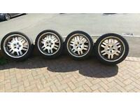 "4 x 20"" alloys and tyres off VW T5 Transporter"