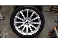 Alloy rim complete with a Good Year Eagle F1 245/45 ZR.20 Low profile tyre