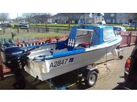 Dejon 14ft Fishing/Pleasure boat and outboard engines