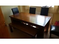 Dining Table, chairs & bench