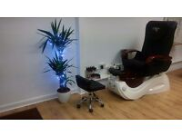 PEDICURE MASSAGE CHAIR AND MANICURE TABLE / WORKSTATION AVAILABLE TO RENT
