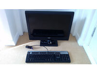 COMPUTER MONITOR 20 INCH LCD FLAT SCREEN DELL PLUS KEYBOARD