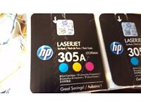 Cyan/Magenta/Yellow Original LaserJet Toner Cartridges