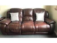 Leather Reclincer Sofa