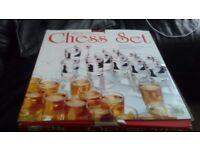 Drinking game glass shots chess set