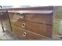Retro/vintage sideboard with drawers and cupboards