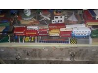 collection of 30 plus vintage model buses