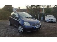 2004 Toyota Yaris T3 1.0 VVT-i Very Low Mileage 3 Door Ideal First Car Corsa Clio Almera 206 VVTI