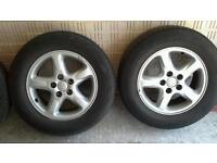 Set of four Rav 4 alloy wheels and tyres