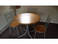[SOLD] Dining Table with 3 chairs (FREE)
