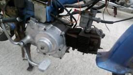Honda 50 c100 pushrod engine and carburetor