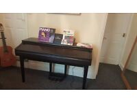 yamaha clavinova cvp 105 88 weighted keys full size in dark rosewood