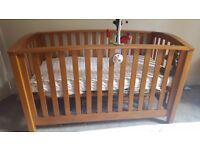 Mamas and Papas solid wood cot bed