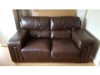 3 + 2 real leather sofas