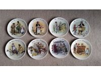 WEDGWOOD STREET SELLERS OF LONDON PLATES - SET OF EIGHT