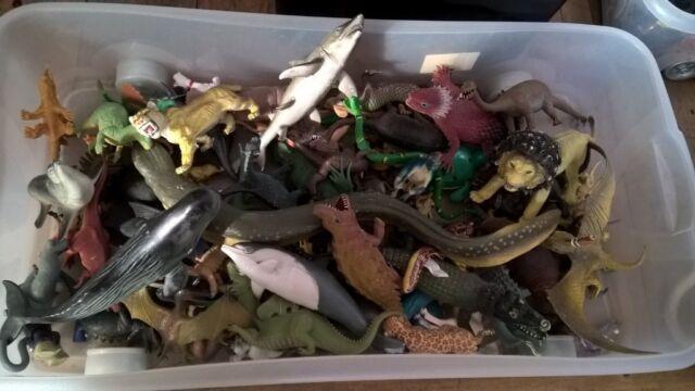 Animals - about 60 plastic animals