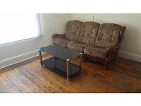 Mountright Premium coffee table TV Stand Black Glass Silver Legs