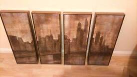 Large Four piece Brooklyn Bridge picture