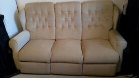 3 seater sofa and matching arm chair