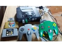 Nintendo 64 with games for sale(Great condition)